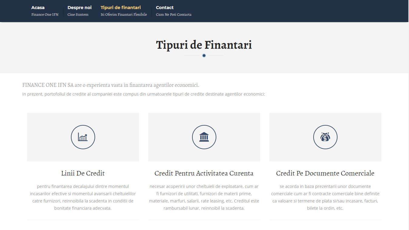 financeone finantari