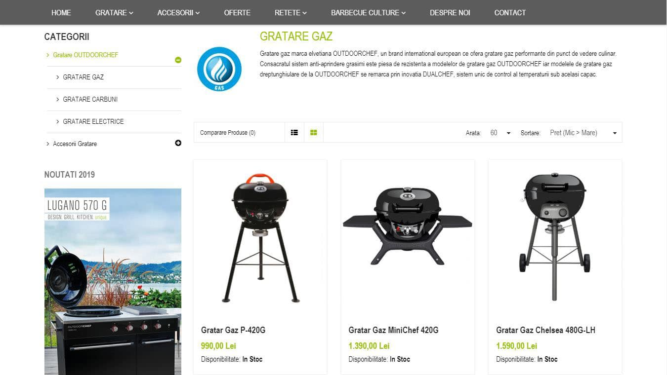 outdoorchef pagina categorie