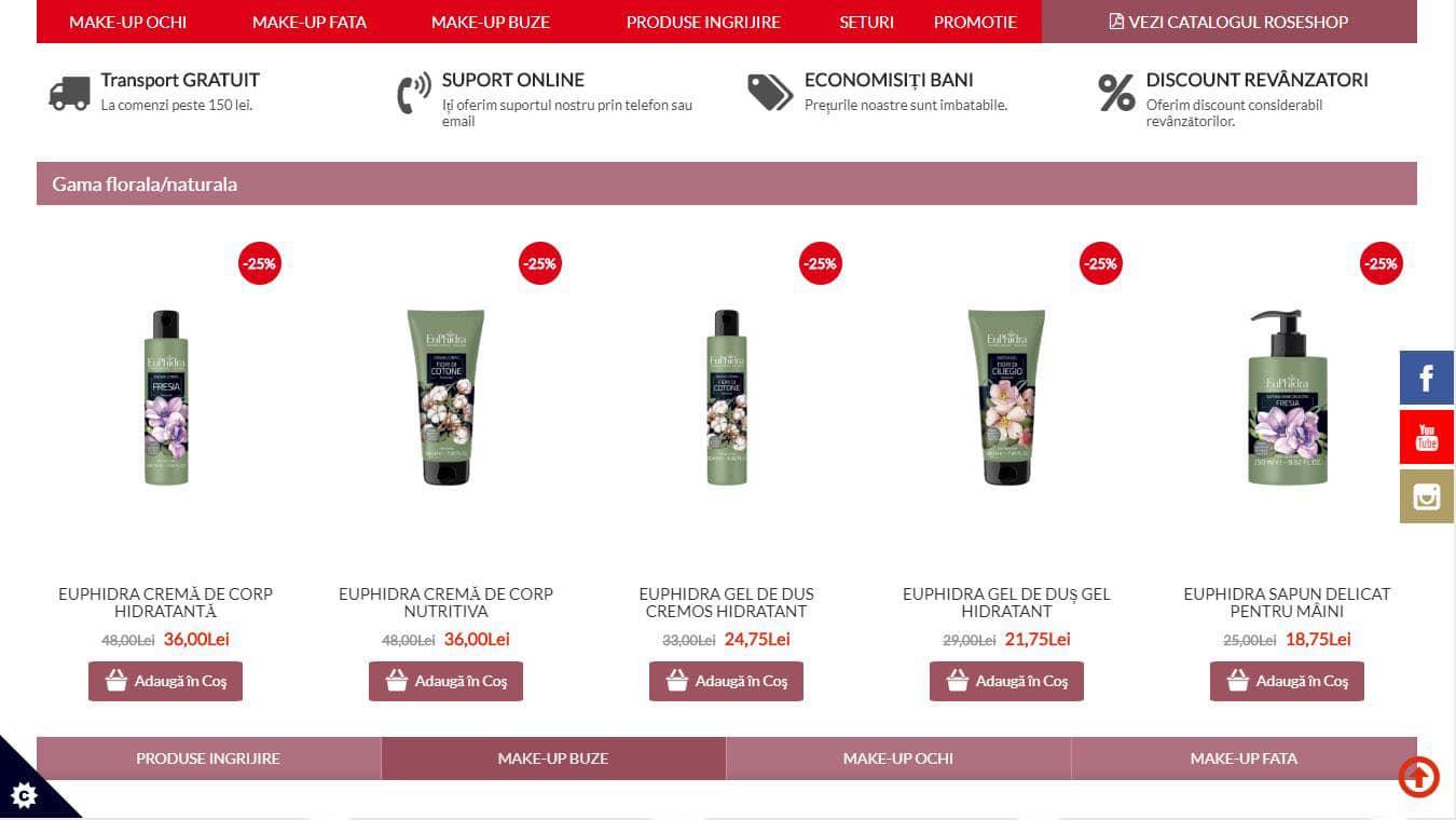 roseshop homepage